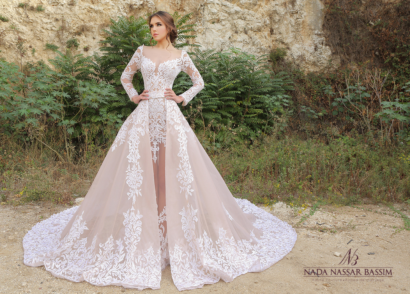 Nada nassar wedding dresses for Lebanese wedding dress designers